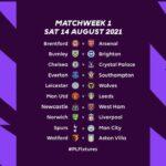 2021/22 Premier League Fixtures released